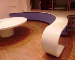 кухонная столешница из искусственного камня офис