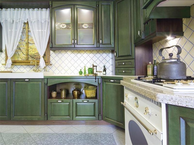 кухня кантри зелёная