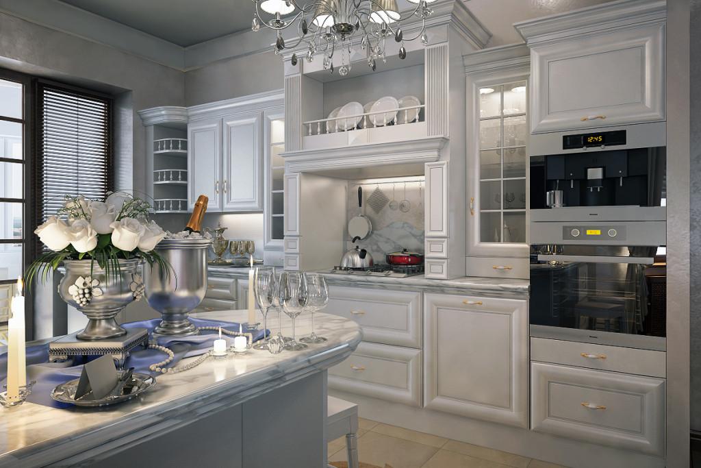 белая классическая кухня