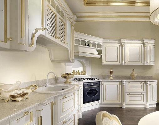 кухня белая в классическом стиле